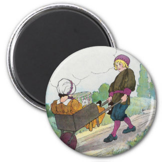 When I was a bachelor I lived by myself 2 Inch Round Magnet