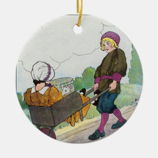 When I was a bachelor I lived by myself Ceramic Ornament