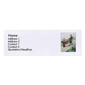 When I was a bachelor I lived by myself Double-Sided Mini Business Cards (Pack Of 20)