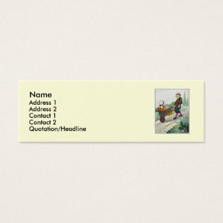 When I was a bachelor I lived by myself Mini Business Card
