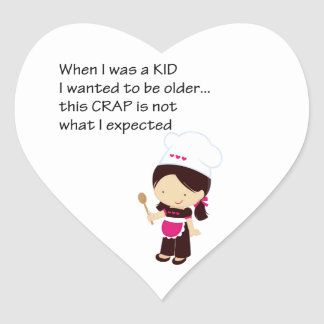 When I Was A Kid Heart Stickers