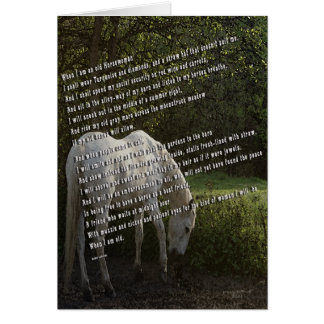 When I'm an Old Horsewoman III Card