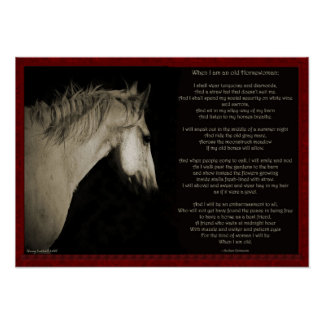 When I'm an Old Horsewomen Poster