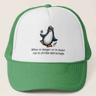 When in danger Funny Penguin Trucker Hat