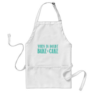 When in Doubt Bake a Cake Apron in Teal