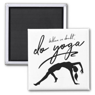 When In Doubt, Do Yoga Custom Background Magnet