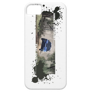 when in doubt flat out phone case