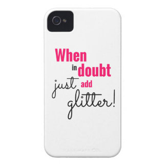 When in doubt just add glitter iPhone 4 cover