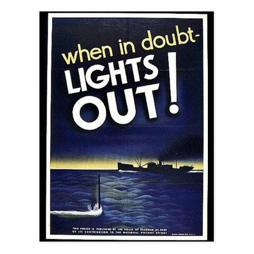 When In Doubt Lights Out! Postcards