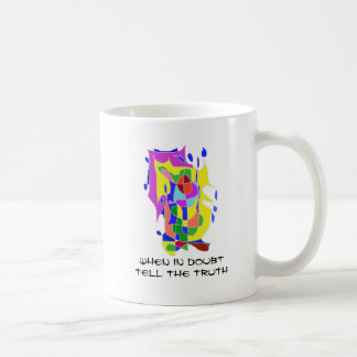 When in Doubt, Tell the Truth - Abstract Sketch Coffee Mug