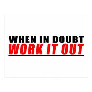 When in Doubt Work Out Postcard