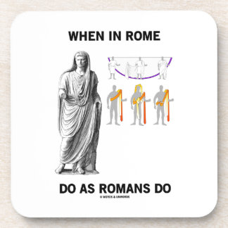 When In Rome Do As Romans Do (Toga Clothing) Drink Coasters