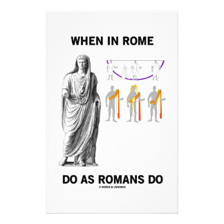 When In Rome Do As Romans Do (Toga Clothing) Stationery