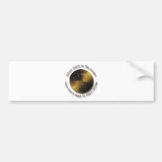 When in the Jungle Don't Make Noise outer space Car Bumper Sticker