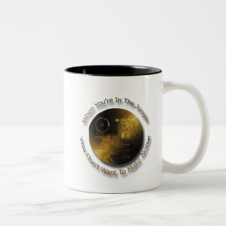 When in the Jungle Don't Make Noise outer space Two-Tone Coffee Mug