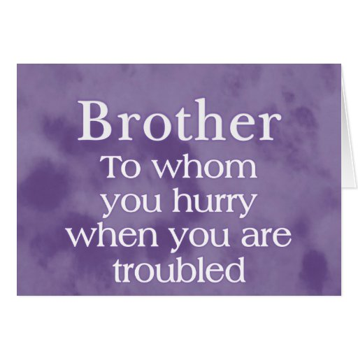When in Trouble Brother Cards