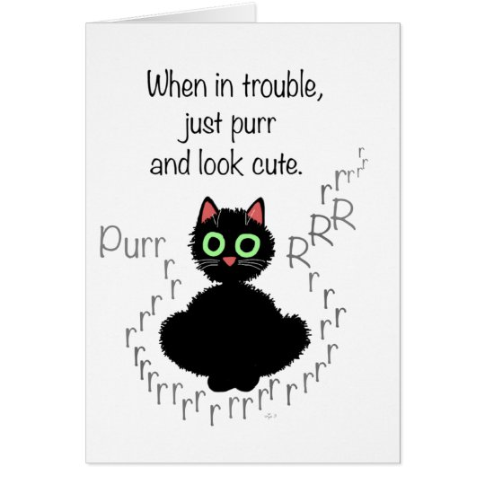 When in Trouble Card