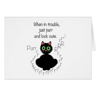 When in Trouble Greeting Card