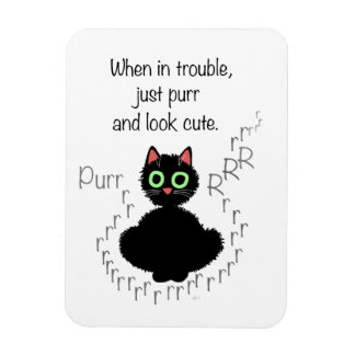 When in Trouble Rectangular Photo Magnet