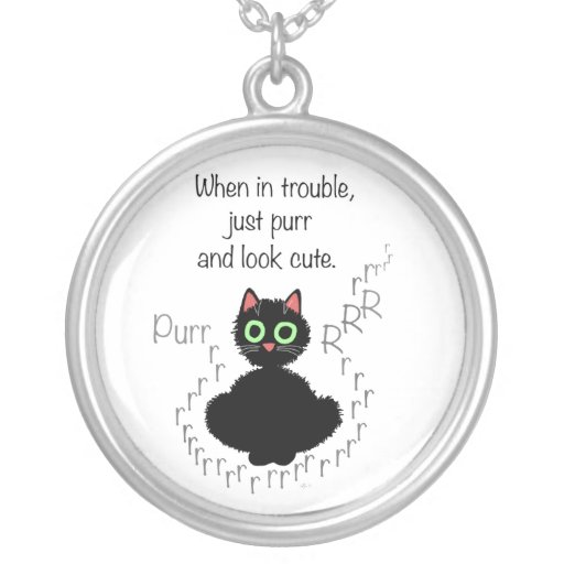 When in Trouble Round Pendant Necklace