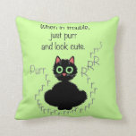 When in Trouble Throw Pillow