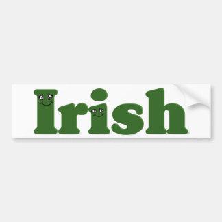 When Irish (i)es Are Smiling Bumper Sticker