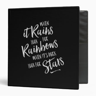 When It Rains - Inspirational Binder