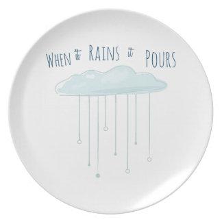 When It Rains Is Pours Party Plates