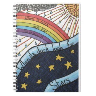When it rains look for rainbows spiral notebooks