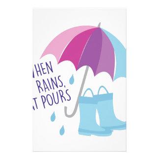 When It Rains Stationery