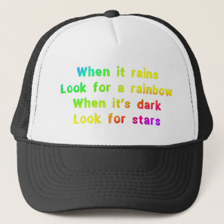 When it rains. trucker hat