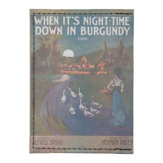 When It's Night-Time Down In Burgundy Tyvek® Card Case Wallet