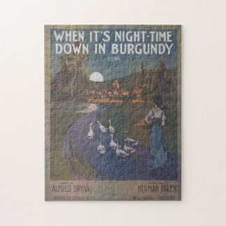 When It's Night-Time Down In Burgundy Puzzle