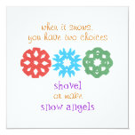 """When It Snows"" holiday photo card"