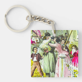 When Johnny Comes Marching Home Civil War Keychain