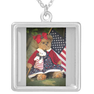 When Johnny Comes Marching Home Silver Plated Necklace