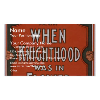 When Knighthood was in Flower Retro Theater Business Card