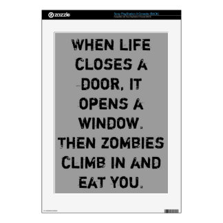 """When life closes a door...zombies"" Decals For PS3"