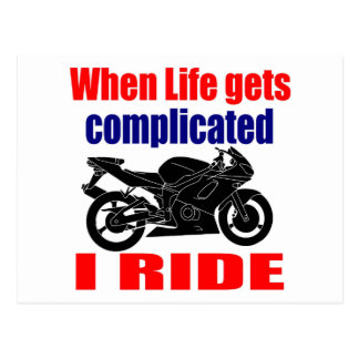 when life gets complicated postcard