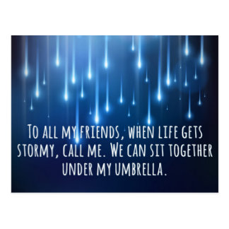 When Life Gets Stormy Quote Postcard