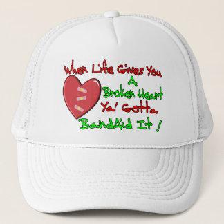 When Life Gives You A Broken Heart Trucker Hat