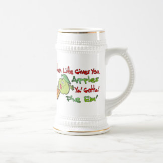 When Life Gives You Apples Beer Stein