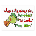 When Life Gives You Apples Postcard