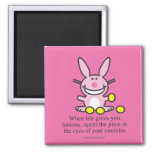 When Life Gives You Lemons 2 Inch Square Magnet