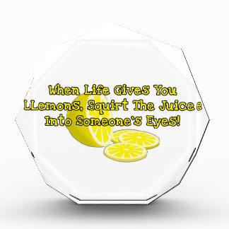 When Life Gives You Lemons Award
