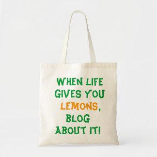 When Life Gives You Lemons, Blog Tote Bag