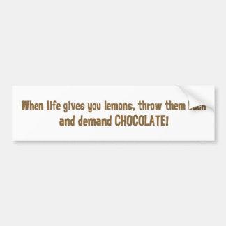When life gives you lemons bumper sticker