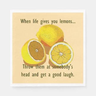 When Life Gives You Lemons Dark Humor Paper Napkin