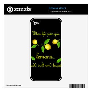 When life gives you lemons decals for the iPhone 4