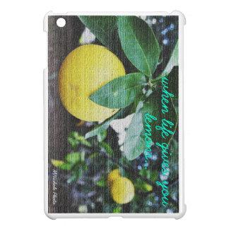 """When Life Gives You Lemons"" iPad Napa Valley iPad Mini Covers"